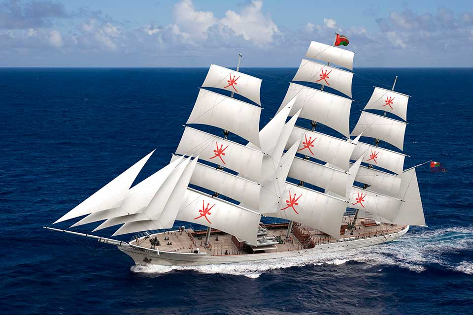This superb 3 masted clipper is due to replace Shabab Oman in 2014